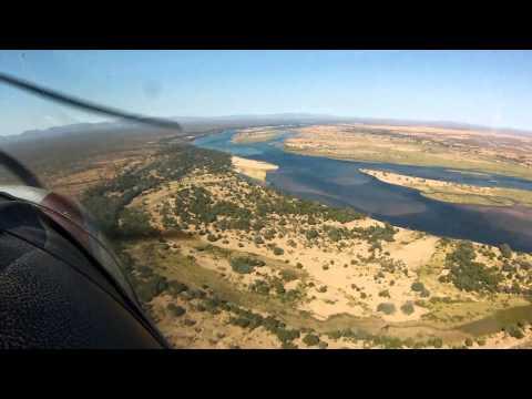 Flight up the Zambesi River to Kariba Dam Wall - Sth Africa