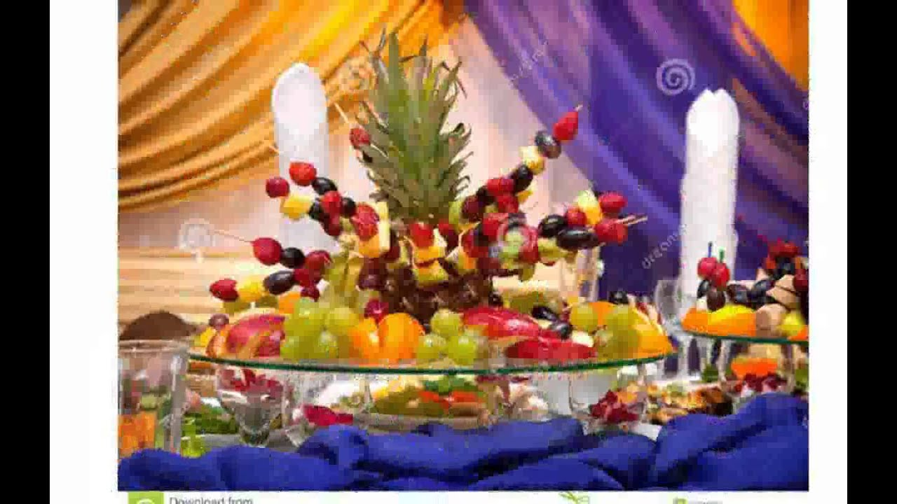 fruit table decoration youtube. Black Bedroom Furniture Sets. Home Design Ideas