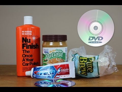 How to Clean a CD / DVD with Household Products