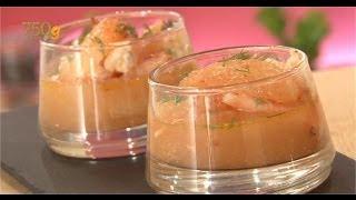 Recette de Verrines de crevettes et pamplemousse - 750 Grammes