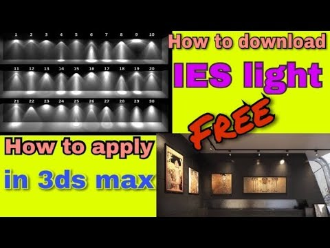 HOW TO DOWNLOAD IES LIGHT & APPLY IN 3DS MAX / ( HINDI )ARCHITECT IRFAN