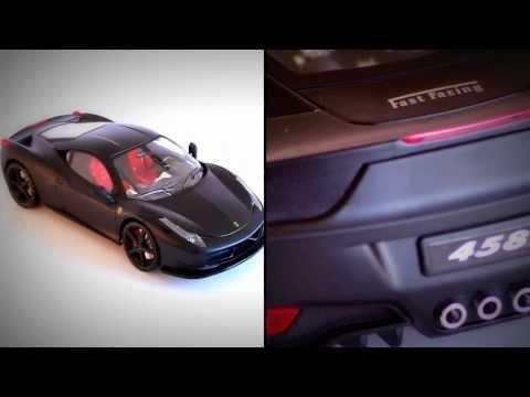 MZ FERRARI ITALIA 458 Black Mat 1:14 r/c toys car