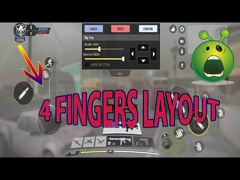 How to Customize Layout of COD Mobile [ 4 Fingers]