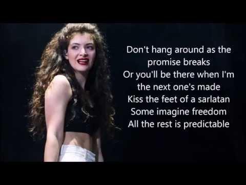 Lorde - Ladder Song   Lyrics (2014)