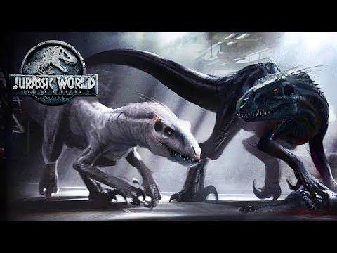 There Was A WHITE INDORAPTOR? | Jurassic World: Fallen Kingdom Concept Art
