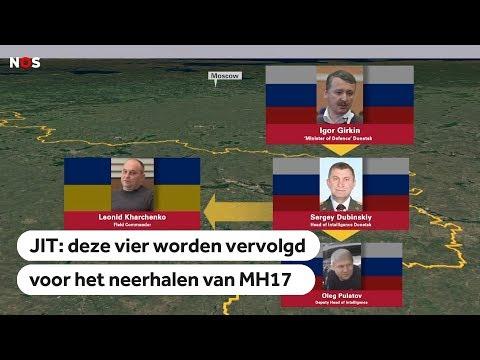 MH17: Volgens het JIT zijn dit de vier verdachten