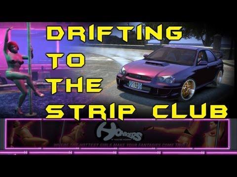 GTA IV - AMAZING Drifting Gymkhana Six (Drifting To The Strip Club)