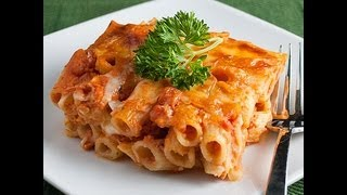Five Cheese Baked Ziti - Quick Recipes - Easy Recipes - How To