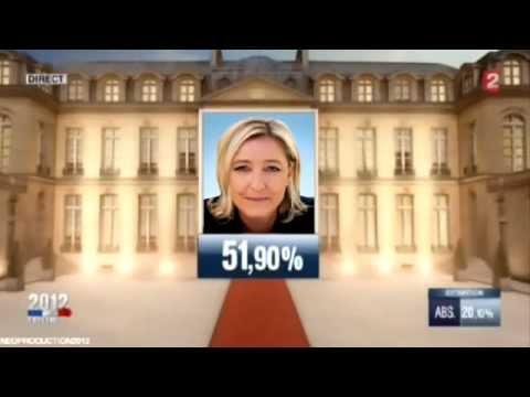 Marine Le Pen -  Présidente de la République en 2017 .
