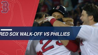 Red Sox walk off in 13th inning vs. Phillies