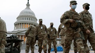 video: Watch:Troops pour into Washington DC as capital braces for unrest ahead of Joe Biden's inauguration