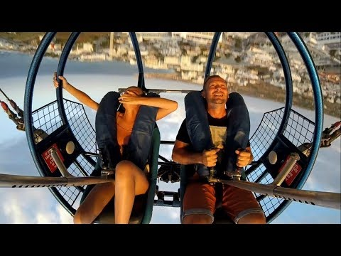 Slingshot. Luna Park. Ayia Napa. Cyprus 2018.