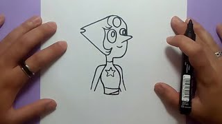 Como dibujar a Perla paso a paso - Steven Universe | How to draw Pearl - Steven Universe