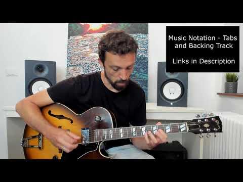 Modern Jazz Guitar - Modal Improvisation #1 - A minor - Coffee Break Grooves Collaboration