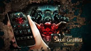 Popular Cool Graffiti Skull Keyboard Theme Related to Apps