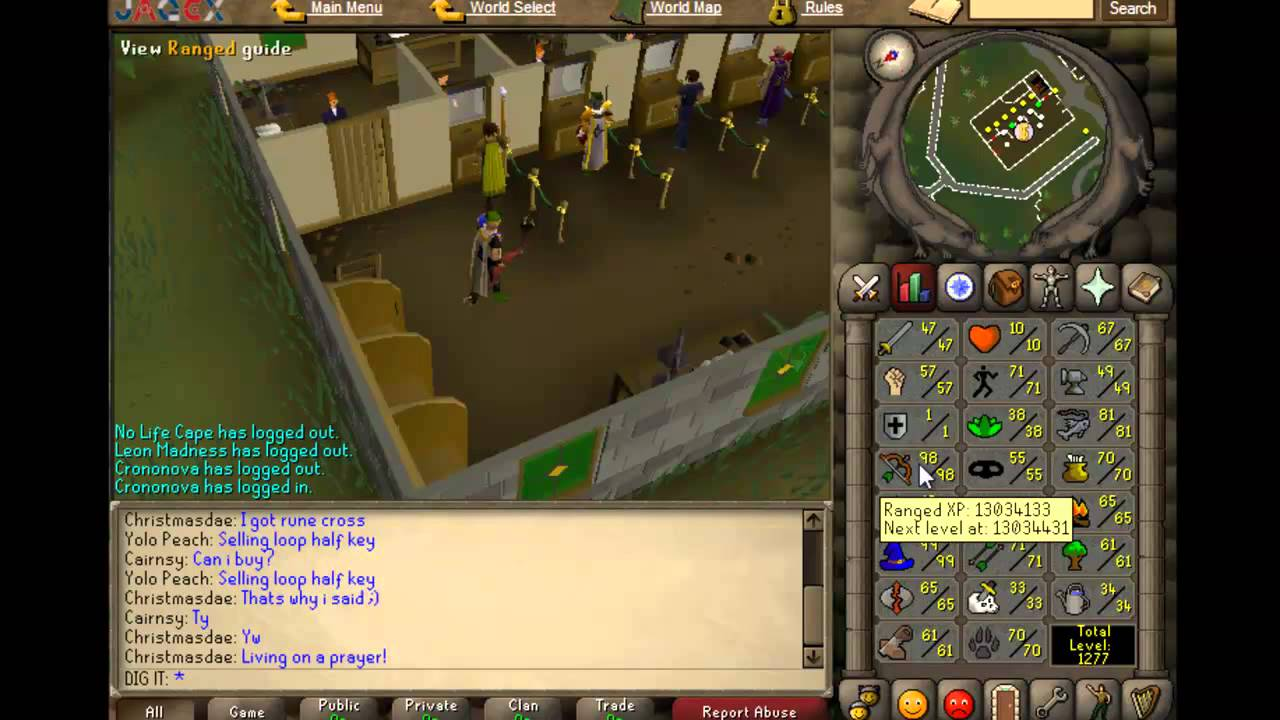 10 hp pure progress vid 18 osrs first 99 ranged 10hp for Runescape exp table 1 99