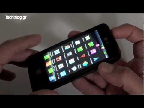 LG Optimus Hub hands-on (Greek)