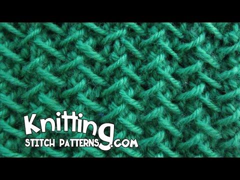Knitting Herringbone Stitch In The Round : Herringbone stitch Step-by-step Tutorial - YouTube