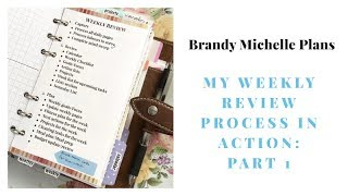 My Weekly Review Process: Plan with me (GTD)