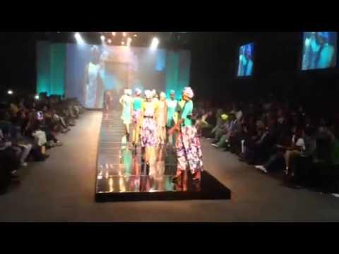 Thula Sindi burning up the runway at Durban Fashion Fair