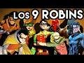 Los 9 Robins de Batman Quienes y Cuantos Son ? Datos Origen Historia
