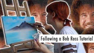BOB ROSS İLE RESİM SEVİNCİ | Following a Bob Ross Tutorial