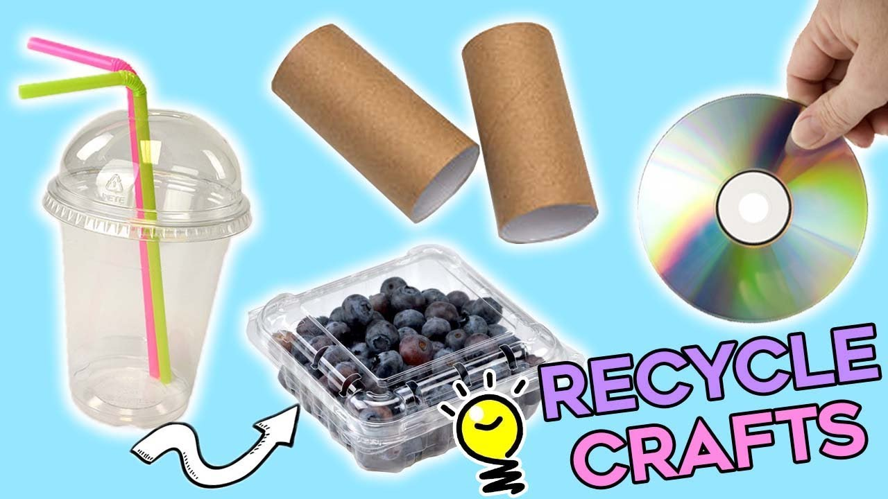 4 COOL DIY RECYCLE CRAFTS TO DO WHEN YOU ARE BORED - YouTube