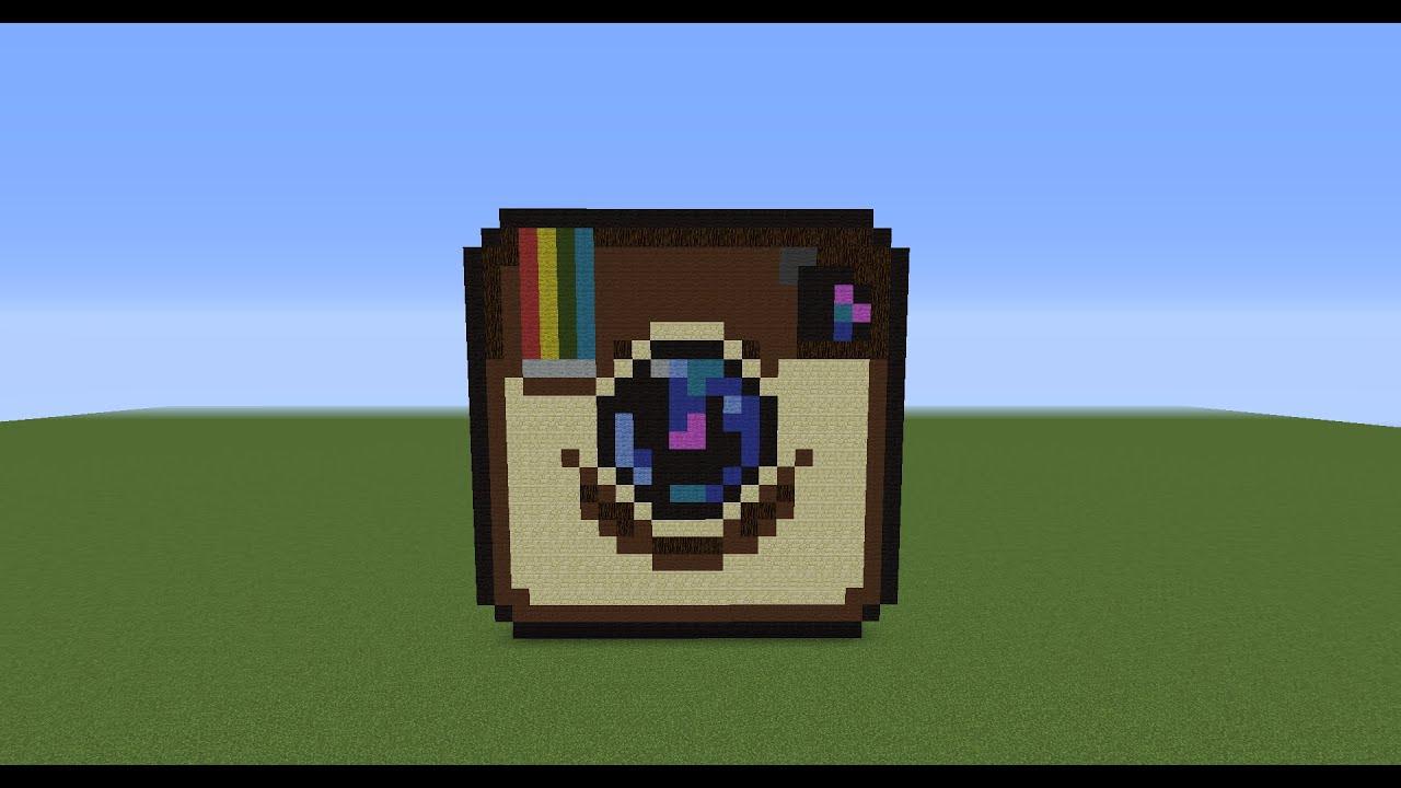 Minecraft Pixel Art Tutorial Ep46 How To Make An Instagram Logo