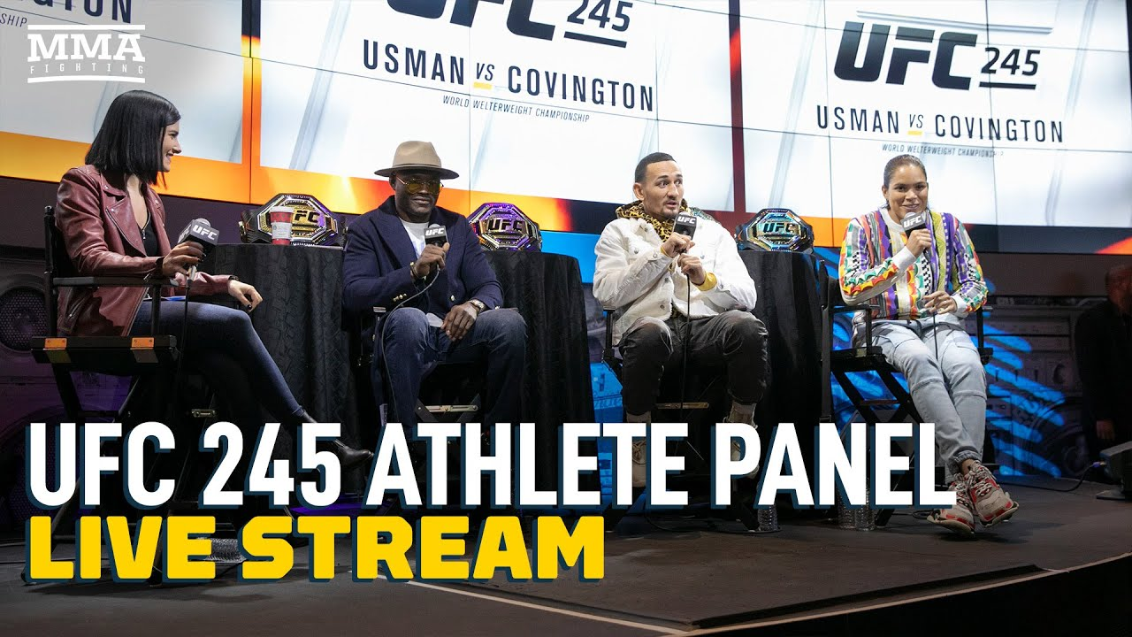 Ufc 245 Athlete Panel Live Stream Mma Fighting Youtube Links to big fights will be available on this page around 1 hour before. ufc 245 athlete panel live stream mma fighting