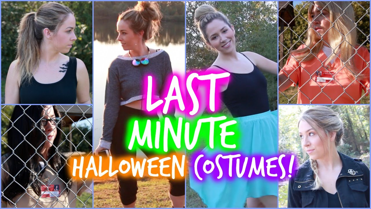 diy easy last minute halloween costumes youtube