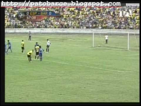 Barcelona 1 Espoli 0. Gol de Samudio. 24 de Enero 2010