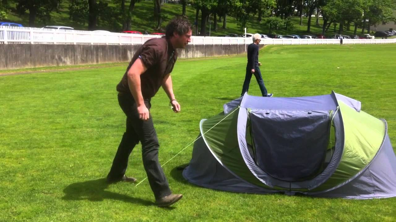 & Instant Pop-Up Tent Demonstration - YouTube