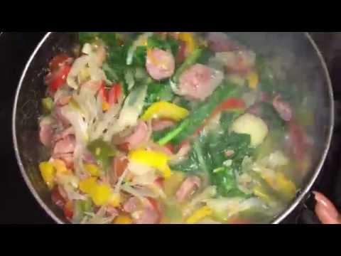 Cooking with Ruka: Potato, Sausage, & Shrimp Soup
