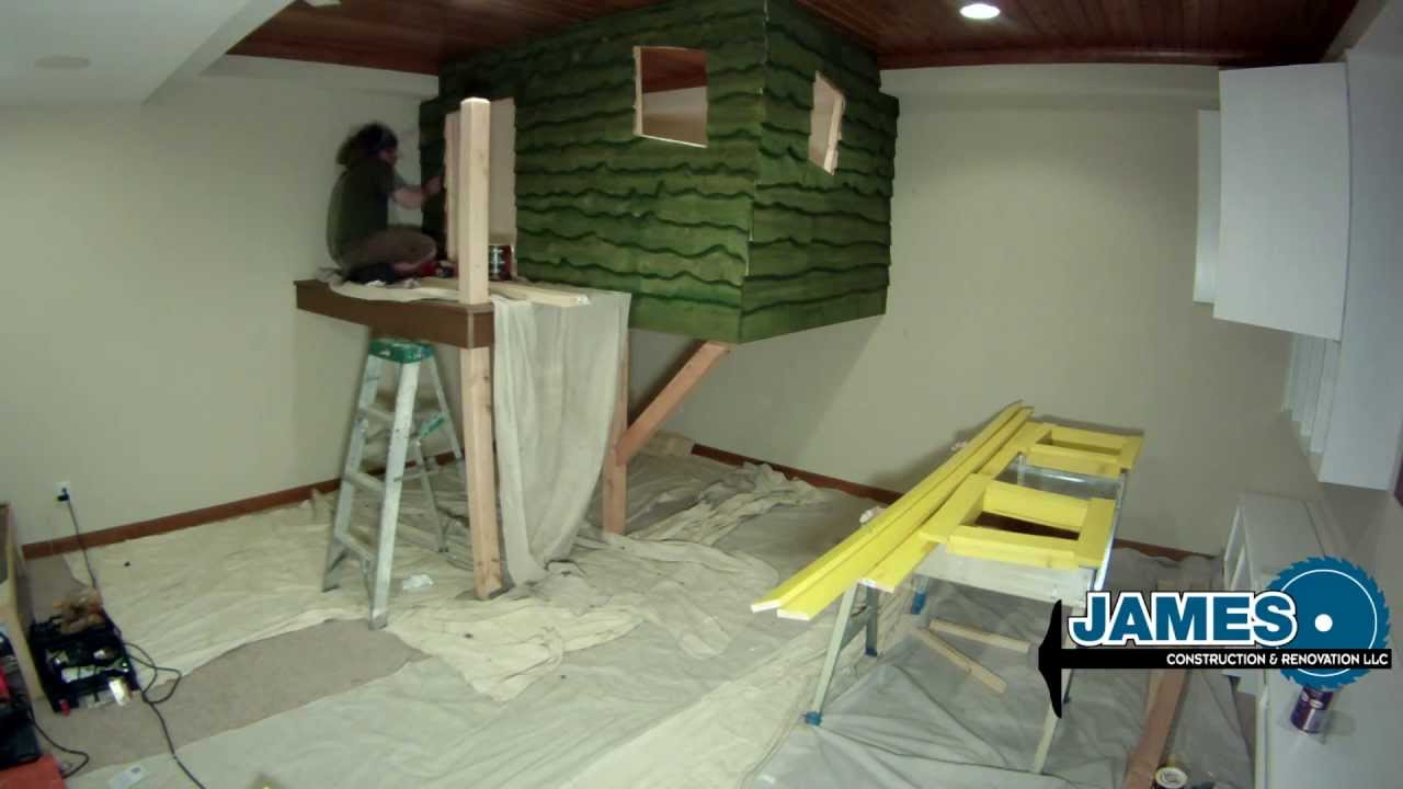 Amazing Indoor Tree House Time Lapse -HD - YouTube