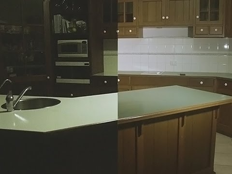 Painting My Kitchen Bench White Rustoleum Countertop