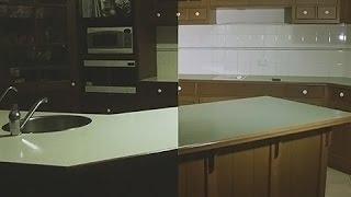 Painting my Kitchen Bench White | Rustoleum Countertop Transformation