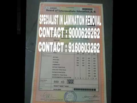 DELAMINATION DONE SAFELY FOR ALL TYPES OF CERTIFICATES LEGAL - Types of legal documents