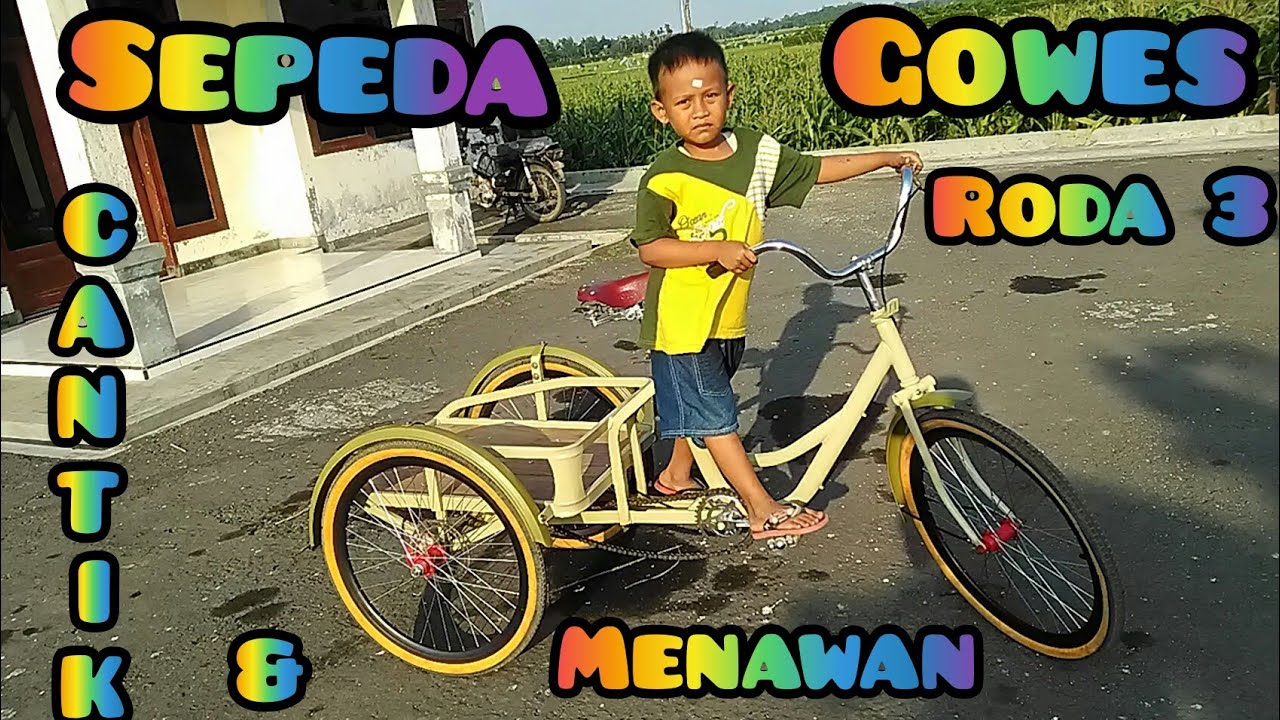 Modifikasi Sepeda Gowes Roda Tiga Dr Bahan Rongsokan Youtube