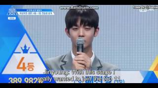 Video [ENGSUB] Produce 101 S2 Ep 10 Bae Jinyoung (배진영) 4th place Speech download MP3, 3GP, MP4, WEBM, AVI, FLV Januari 2018
