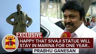 Happy that Sivaji Ganesan Statue will Stay in Marina Beach for 1 Year - Prabhu Ganesan spl hot tamil video news 18-12-2015