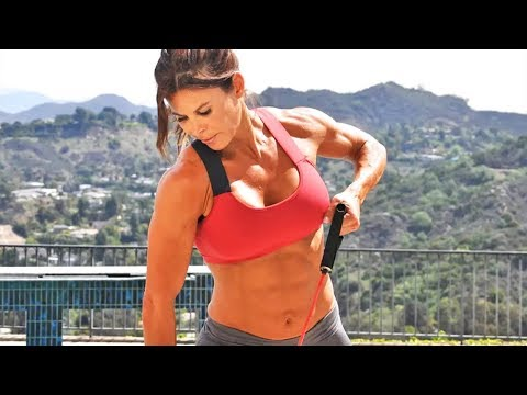Full Body Resistant Band Workout : Total body Resistance Band Workout for Women At Home