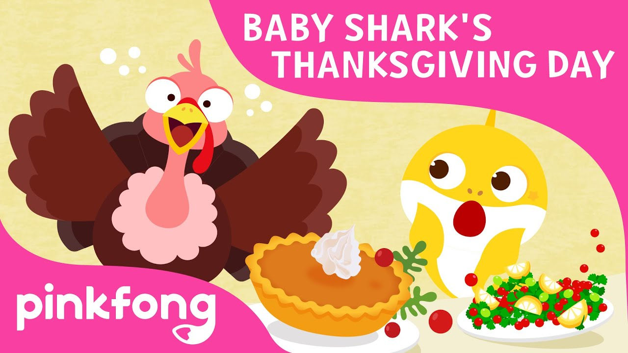 Baby Shark's Thanksgiving Day | Thanksgiving Song | Baby Shark Song | Pinkfong Songs for Children