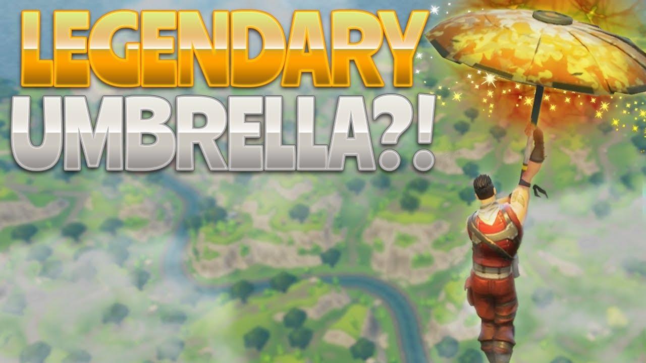 legendary umbrella - fortnite how do you get the umbrella