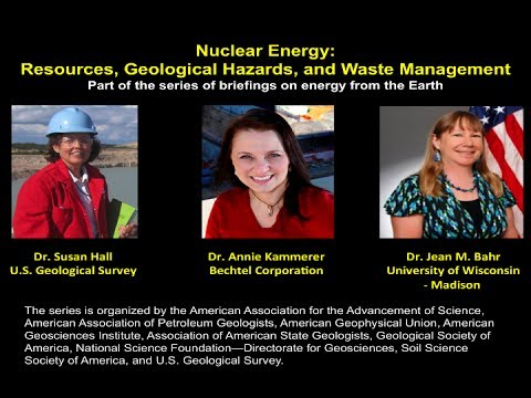 Nuclear Energy:  Resources, Geological Hazards, and Waste Management