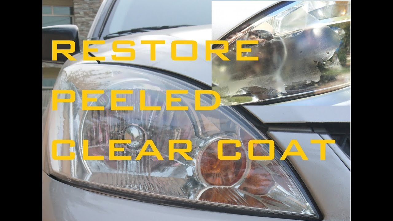 Wet Sanding Clear Coat >> How to restore peeled clear coat headlights (part 1) - YouTube