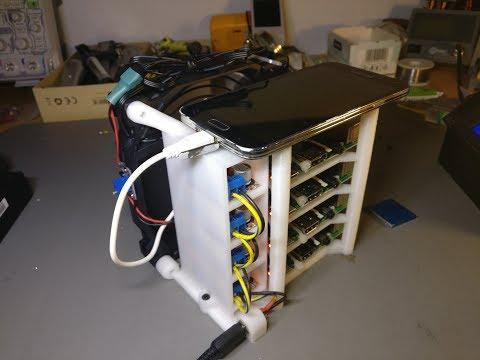 Raspberry Pi Crypto Mining Rack.