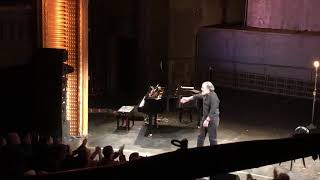 Mandy Patinkin and Adam Ben-David take bows at Mandy Patinkin in Concert: Diaries 2018
