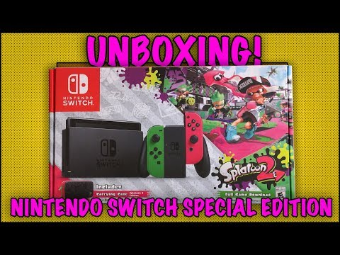 UNBOXING! Nintendo Switch Splatoon 2 Special Edition - Walmart Exclusive