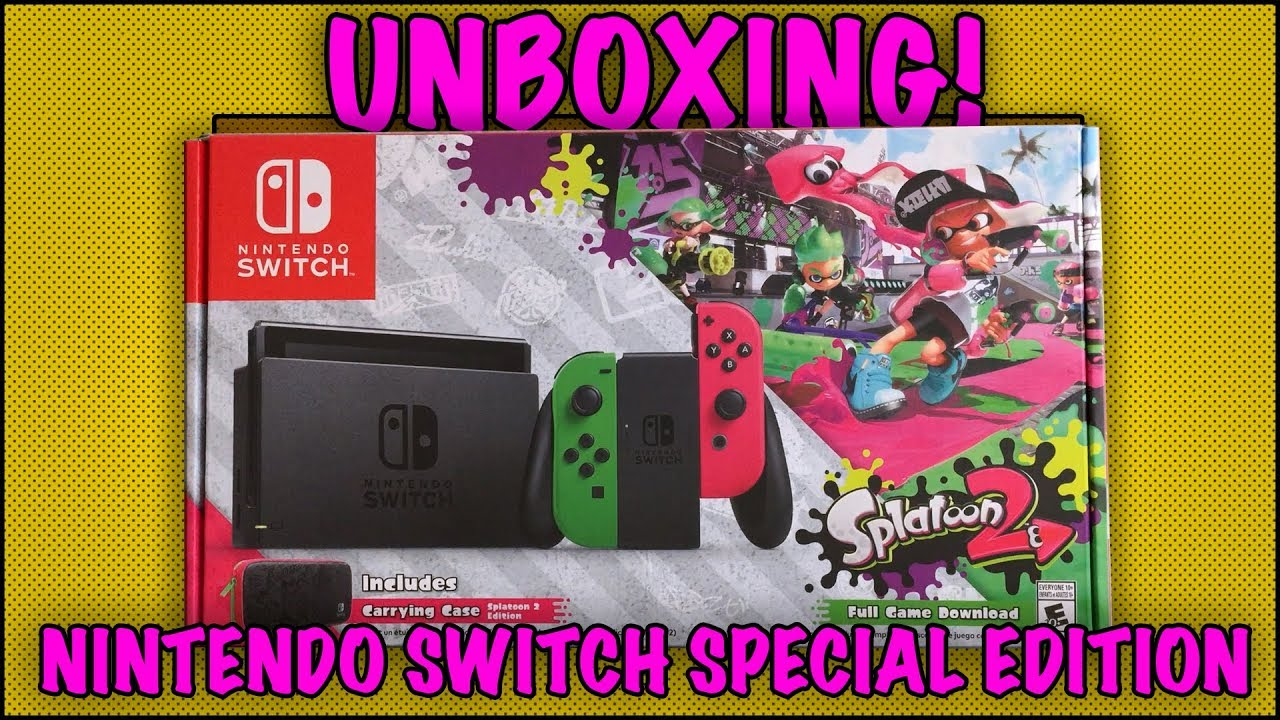 Unboxing Nintendo Switch Splatoon 2 Special Edition Walmart Exclusive
