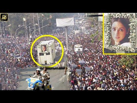 Sridevi Funeral Live : CRAZY FANS Follow Sridevi's Body